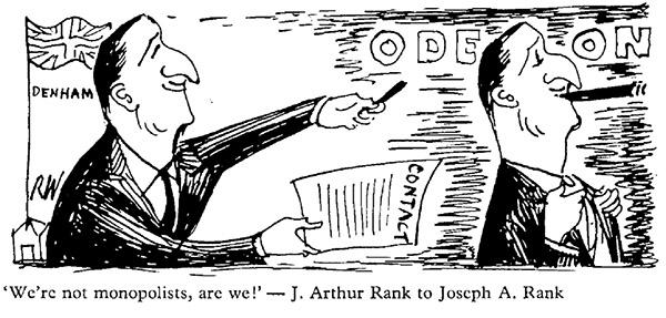 Richard Winnington Rank Cartoon