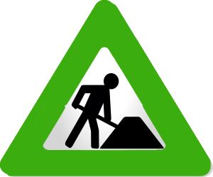 Originally from http://commons.wikimedia.org/wiki/File:Under_construction_icon-blue.svg - used on this site under GNU Lesser General Public Licence
